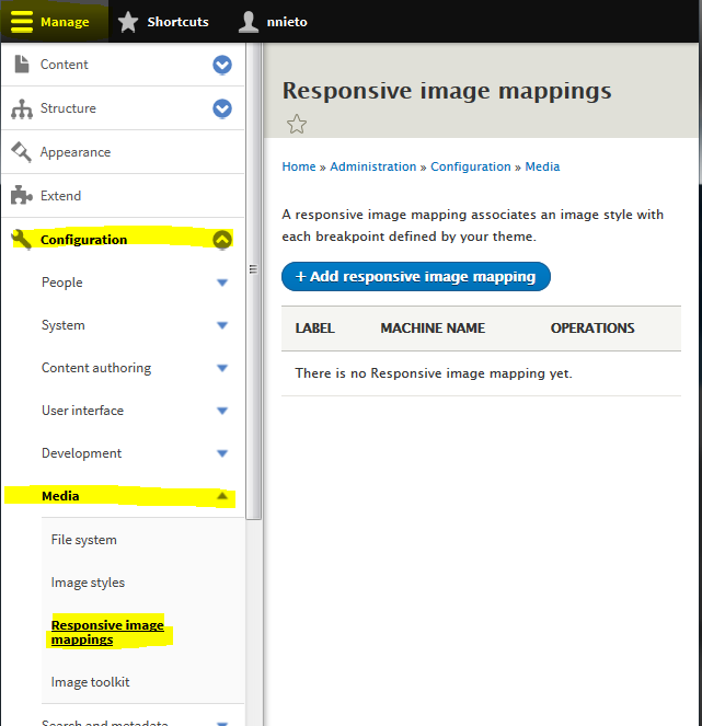 `Responsive Image mappings`