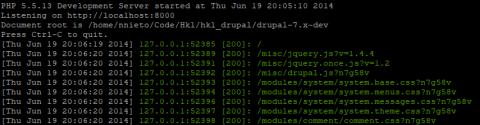 PHP corriendo su servidor interno desde la linea de comandos