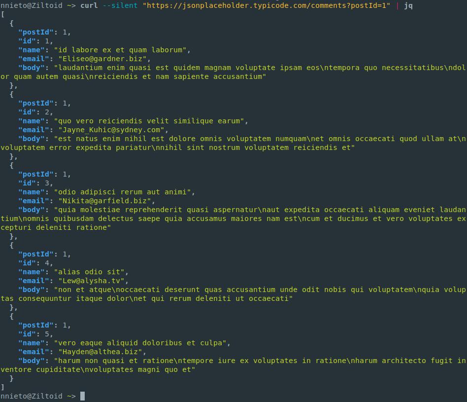 Jq Command Line Json Processor | Mosaico (Blog de Noe Nieto)