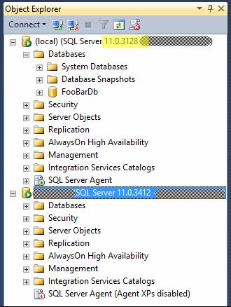 Object Explorer de SSMS